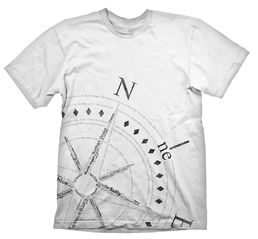 Uncharted Compass White T-shirt L-koko