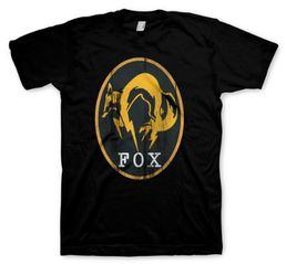 Metal Gear Solid V Ground Zeroes Fox Logo Black T-Shirt Koko L