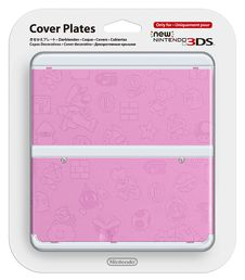New Nintendo 3DS cover plate Super Mario theme pink