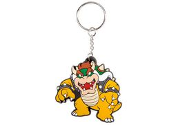 Super Mario Bowser Rubber Keychain